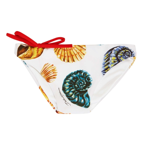 Baby Girls Seashells Print Swim Pants DOLCE&GABBANA